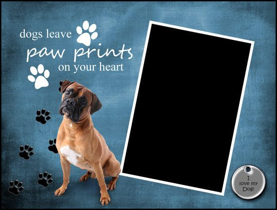 8x6 Boxer Paw Prints Picture Frame by SapphireCustomPhotos on Etsy, $8.00
