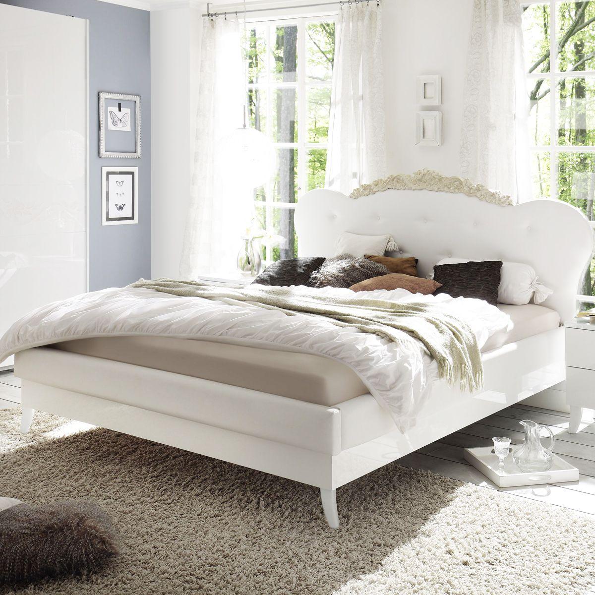 Koniglicher Style Fur Dein Schlafzimmer Echt Hochglanz Weiss
