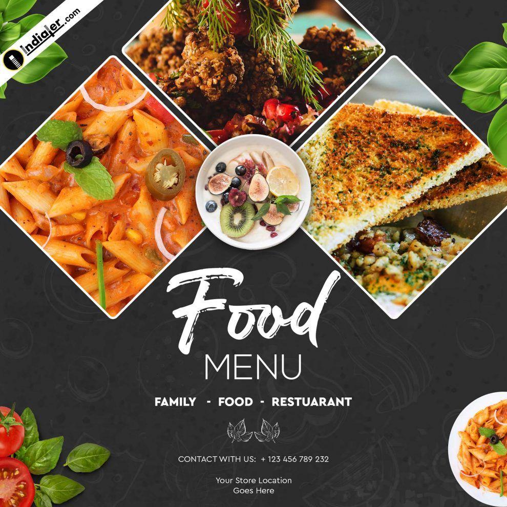 Food Banner Design Template Free Psd Download Indiater Inside Food Banner Template Food Banner Food Menu Design Food Poster Design