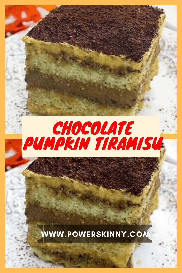 Chocolate Pumpkin Tiramisu in 2020 Pumpkin chocolate