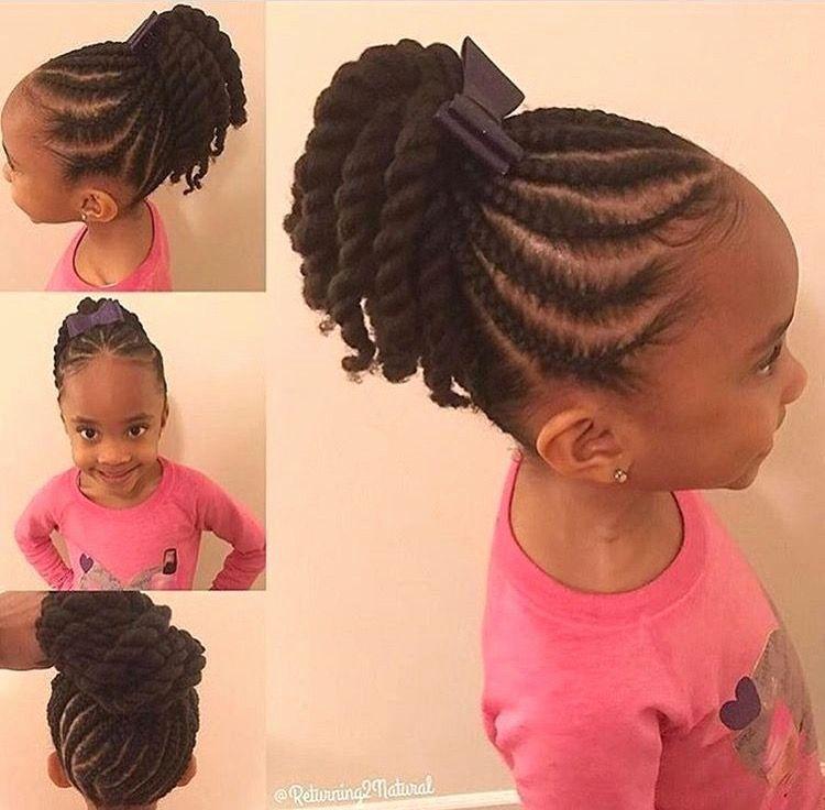 Petite Fille Sans Meche Coiffure Fille Afro Tresse Coiffure Fillette Coiffures Filles Cheveux D Enfant