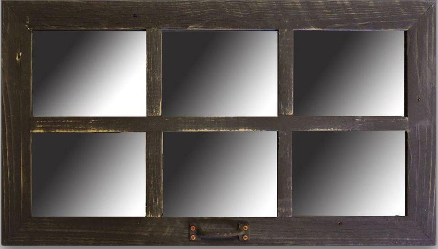 Farmhouse Window Mirror 28 X 16 2 Homesteader 6 Pane Window Mirror Farmhouse Wall Decor Rustic Window Window Mirror