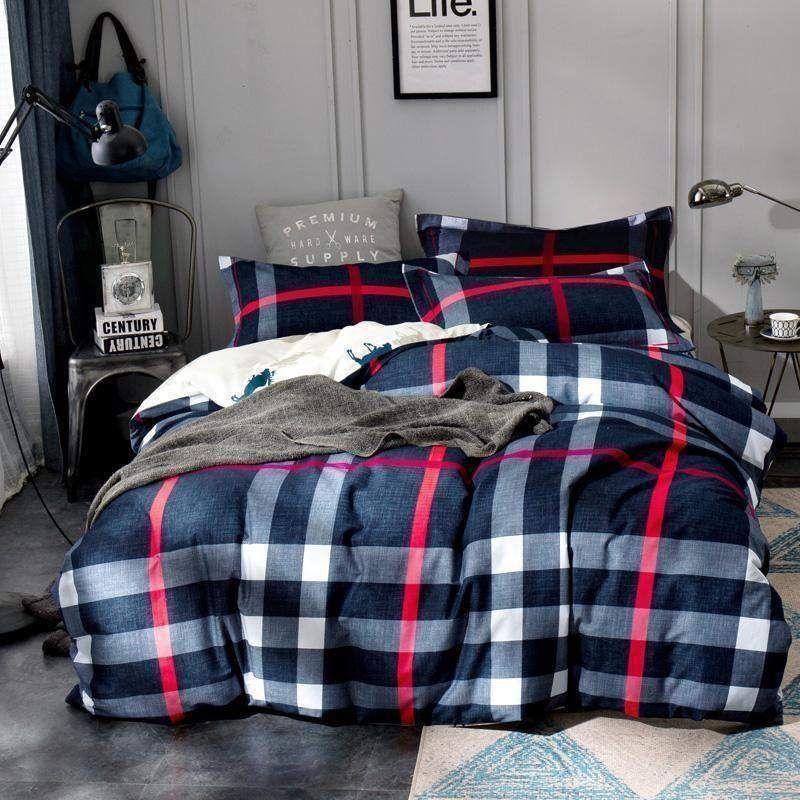 British Plaid Duvet Cover Sheet Set Bed Com Linen Bedroomideas Homestyling Adairs Pillow Vintagewa King Size Duvet Covers Winter Bedding Quilted Duvet