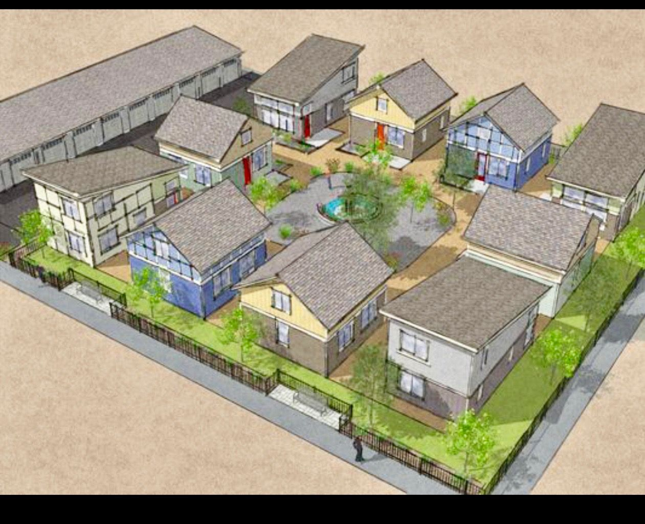 Parking Tiny Community Layout Idea Tiny House Community Tiny House Village Small House Communities