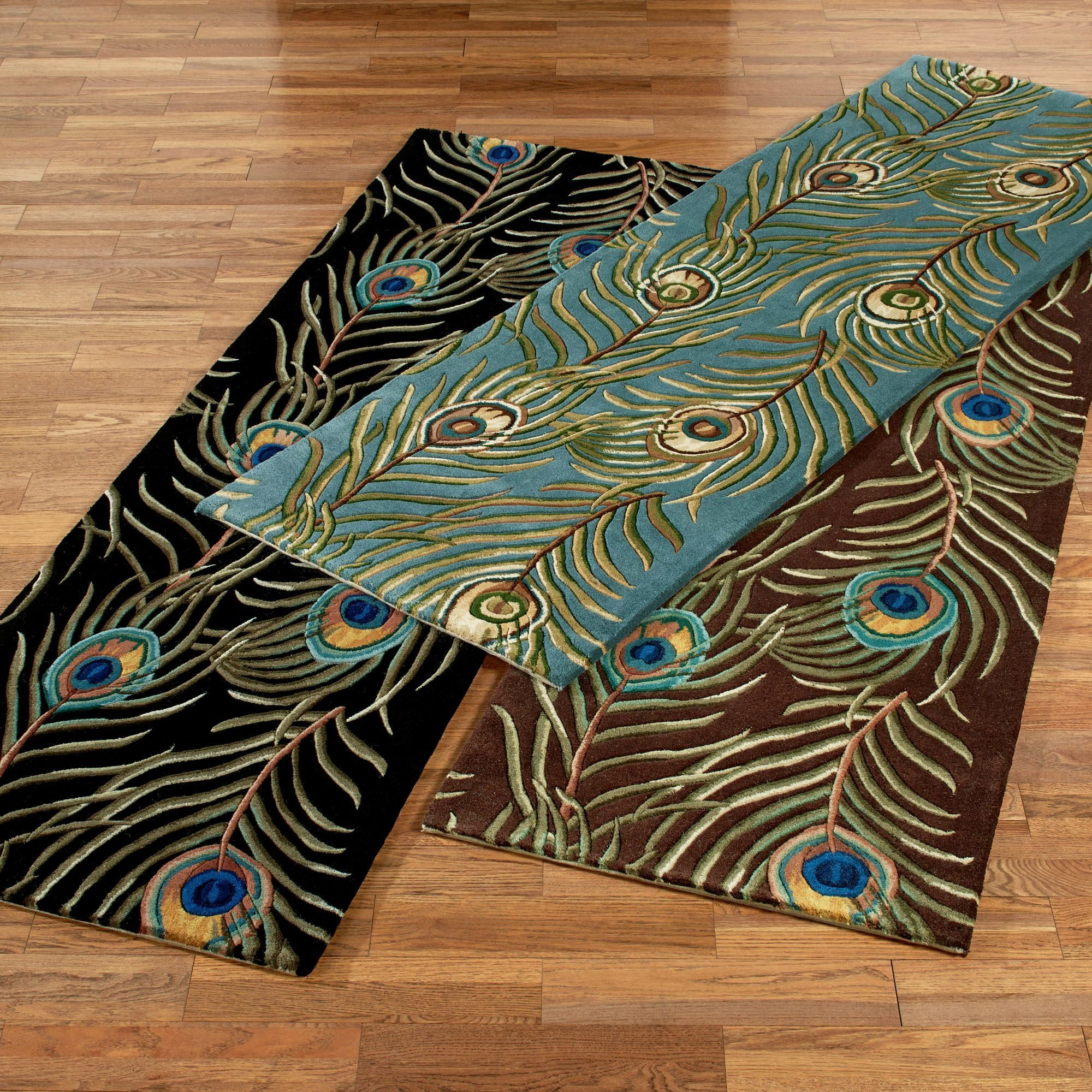 peacock feathers rug runner | rug runner, peacock feathers and