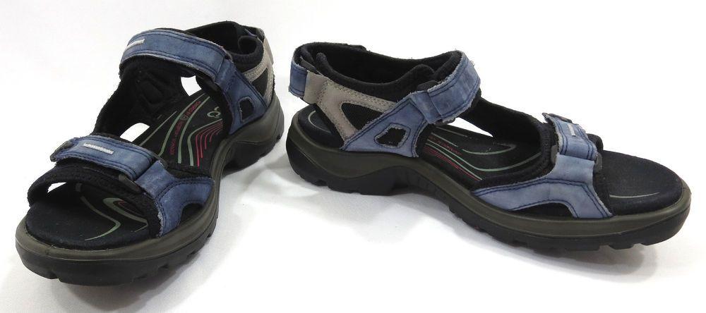 ECCO 39 Sandals 8 8.5 Receptor Yucatan Performance Sport Blue Womens Ankle Strap #ECCO #SportSandals