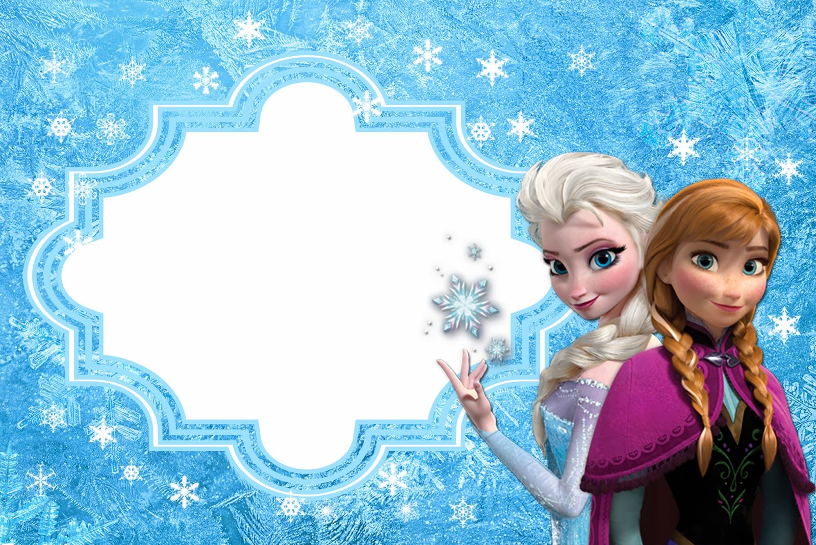 Frozen: Free Printable Cards or Party Invitations. | Disney\'s ...