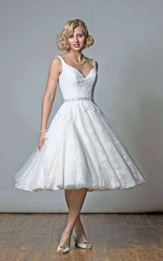 Why we love vintage style wedding dresses 50s style