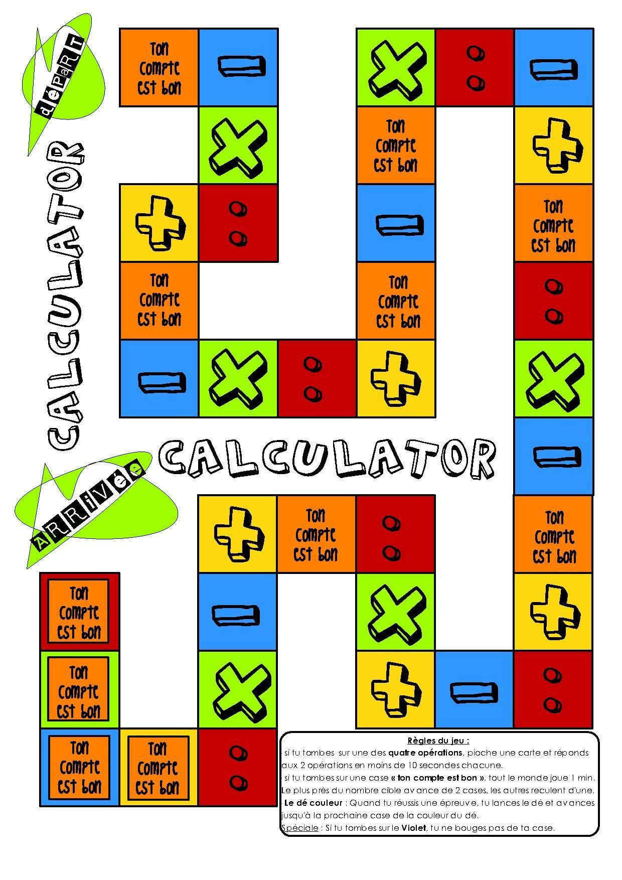 Calculator jeu de calculs pour le cycle 3 math - Calcul cm1 a imprimer ...