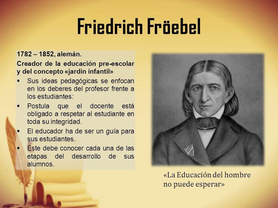 Pin De Roxanaortega En Friedrich Froebel Pedagogica