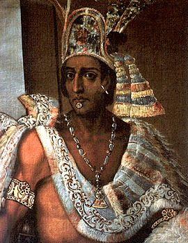 Montezuma is de leider van de Azteken.