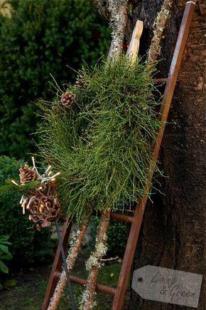 ein Kranz-DIY - Kranz aus Heidelbeerkraut #dekoeingangsbereichaussen