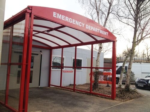 Wexham Hospital - Entrance Canopy - Able Canopies Ltd. & Wexham Hospital - Entrance Canopy - Able Canopies Ltd. | Canopies ...
