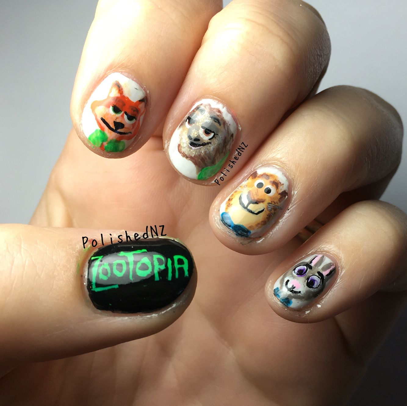 Zootopia Nail Art By Polishednz Video On Youtube Movie Character