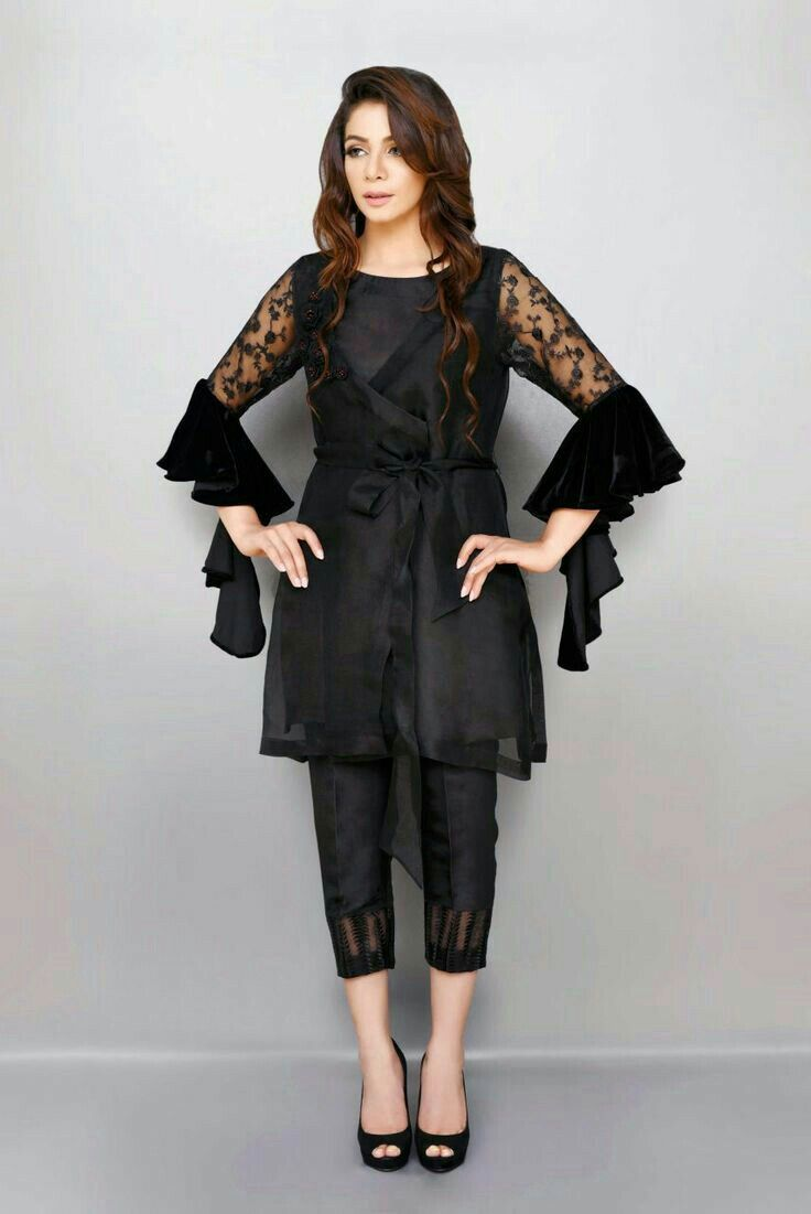 3e9e327a46 Black fascinate... | Fashion | Dresses, Pakistani dresses, Pakistani ...