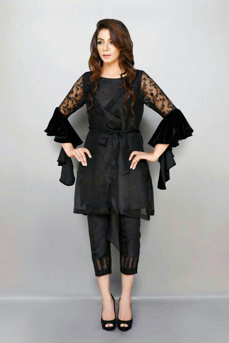 black fascinate fashion pakistani