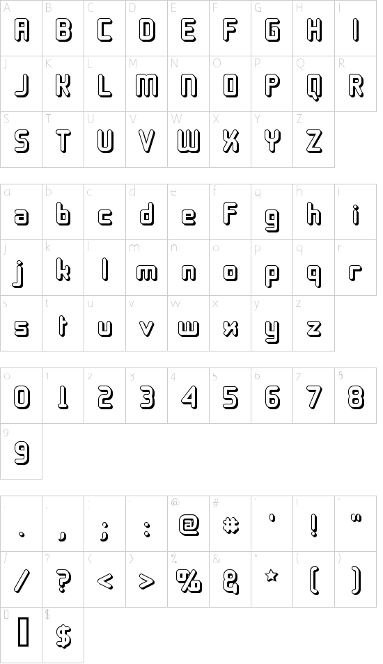 11S01 Black Tuesday Offset Font