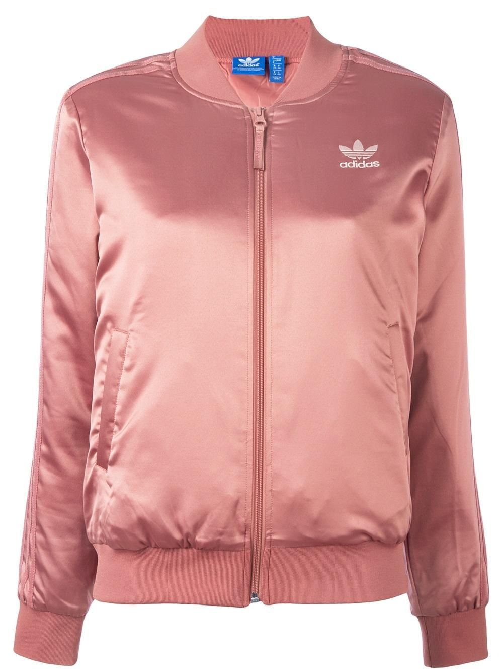 779bdc0aef50 Image result for pink satin bomber jacket womens. Adidas satin track ...