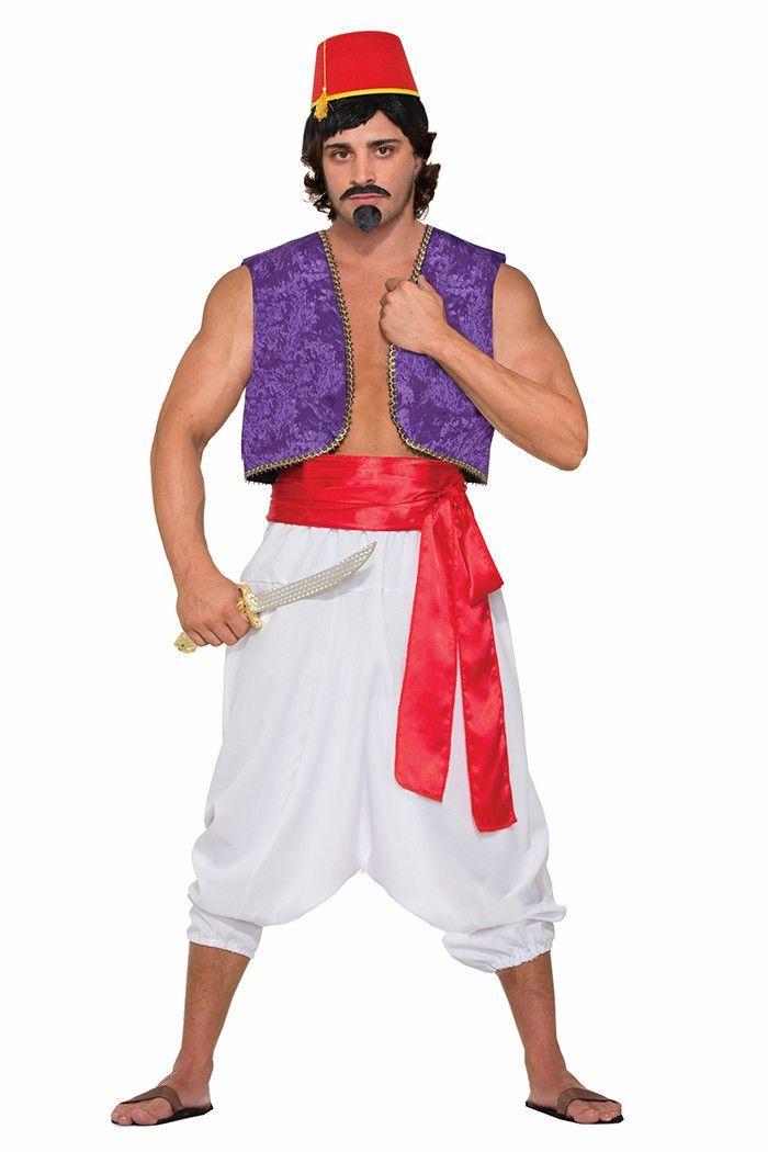 New Desert Prince Shirt Vest Adult Mens Costume