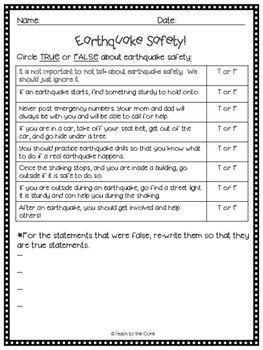 Pin On Teach Earthquake worksheets for kindergarten