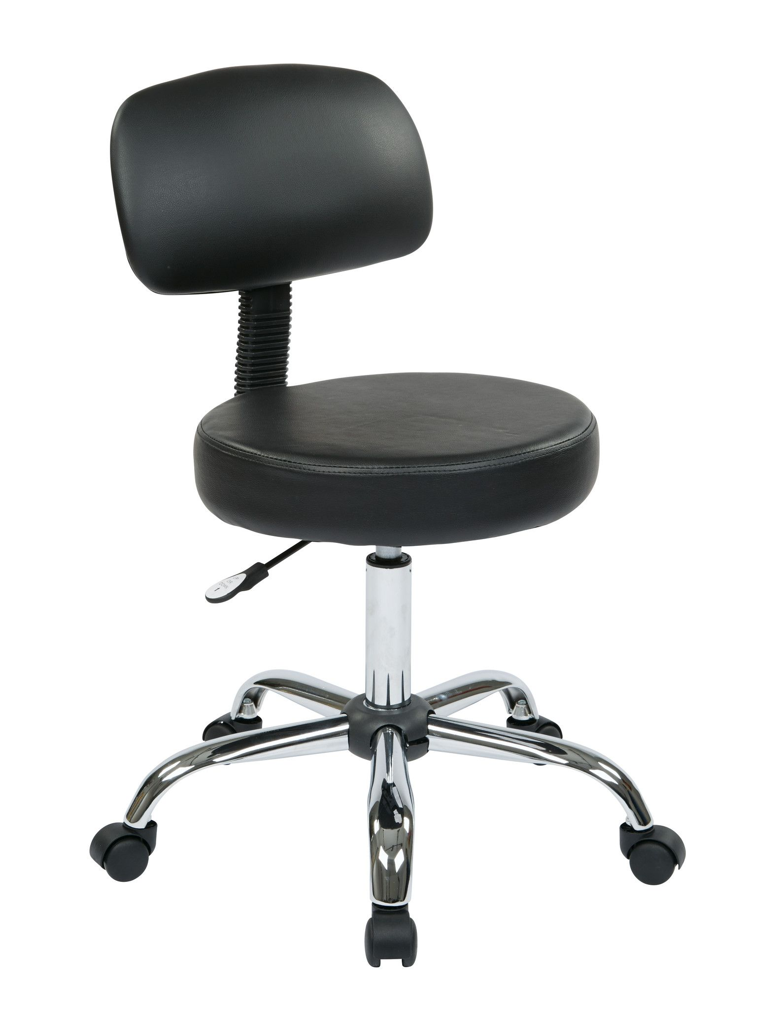 Work Smart™ Pneumatic Drafting Chair with Black Vinyl ...