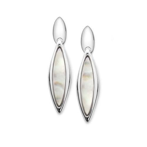 New NambÉ Womens Marquise Earrings Mother Of Pearl Ebay Link