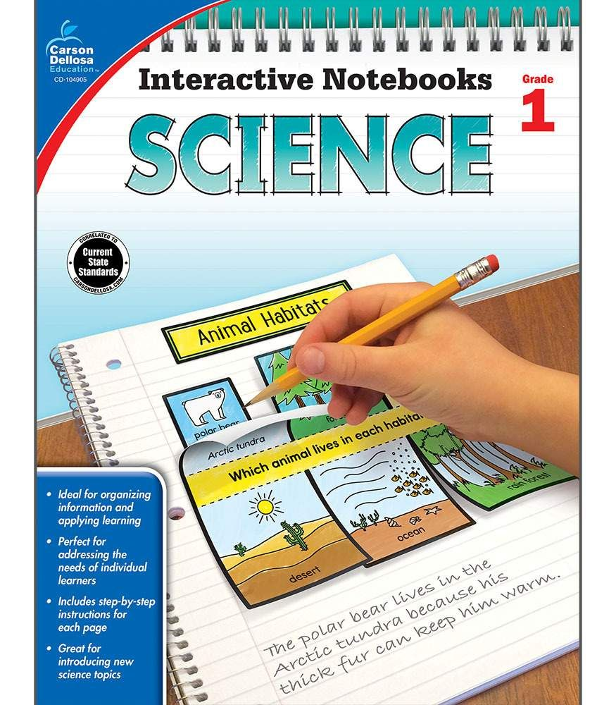 Interactive Notebooks Science Resource Book Grade 1 Paperback Interactive Science Notebook Interactive Notebooks Word Study