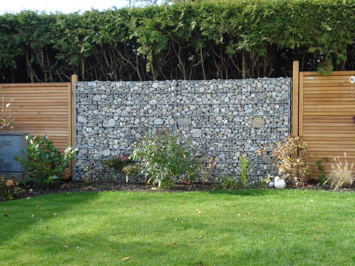 Gabione Als Trennwand Und Sichtschutz Im Eigenen Garten