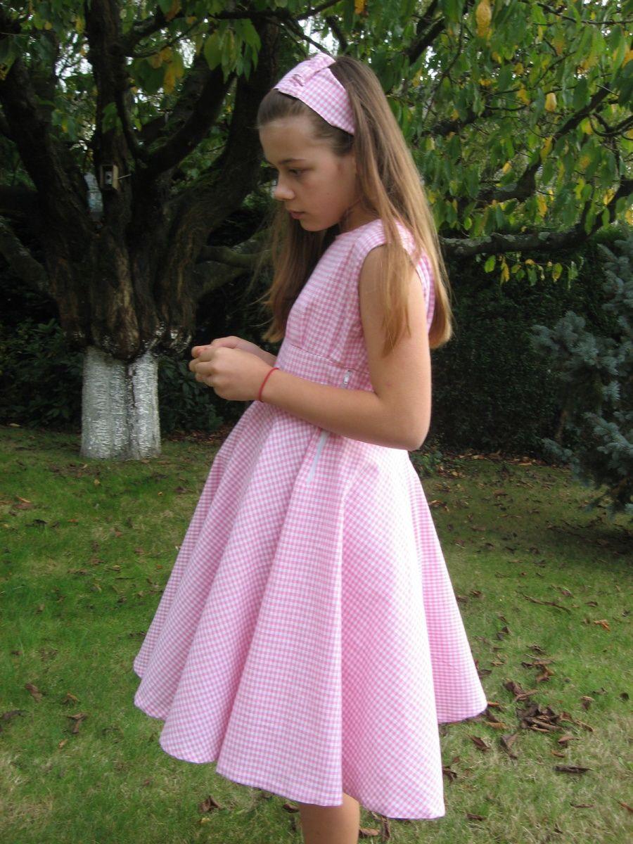 Robe Vichy années 60 pour fillette 12 ans Robe vichy