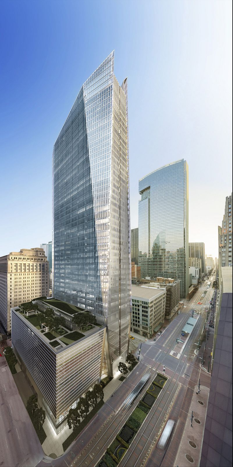 downtown houston (rendering of 609 main street now under