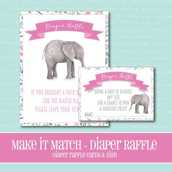 Make It Match Elephant BABY Shower DIAPER by ThePeachandPineapple