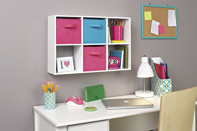 Create An Organized Place To Do Homework With A The Closetmaid Mini Organizer And Mini Fabric Brawers Backto Cube Storage Shelves Cube Storage Cube Organizer