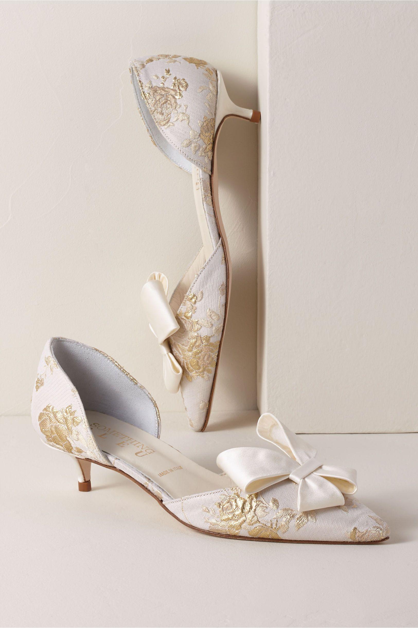 Something Bleu Cliff Kitten Heels Wedding Shoes Bridal Shoes