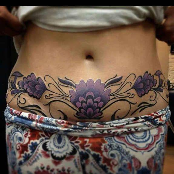 50 Tatuajes Para Tapar Estrías En La Barriga Tattoo Pinterest