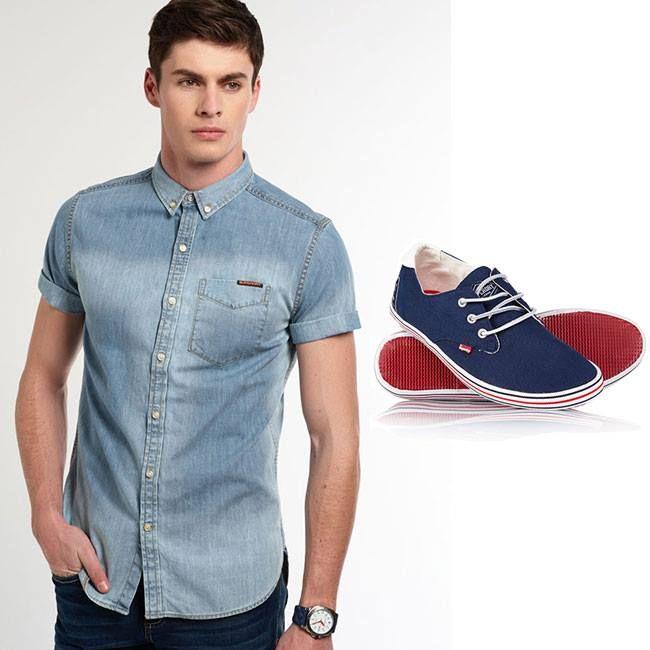 Outfits para hombres con camisa manga corta outfits para