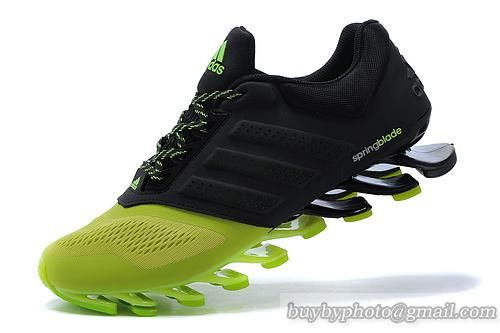 Men s Adidas Springblade Drive 2.0 Running Shoes Black Green 40-45 ... ee7c69603e