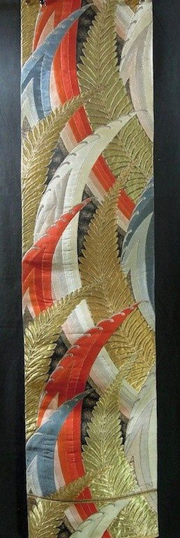Vintage Japanese obi fabric