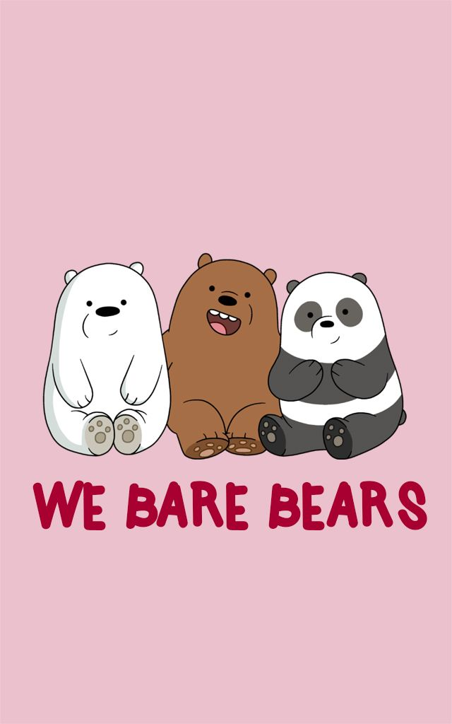 Panda Panpan Polar Bear Ice Bear Grizzly Bear Grizz We Bare Bears Kartun Lucu Wallpaper Ponsel