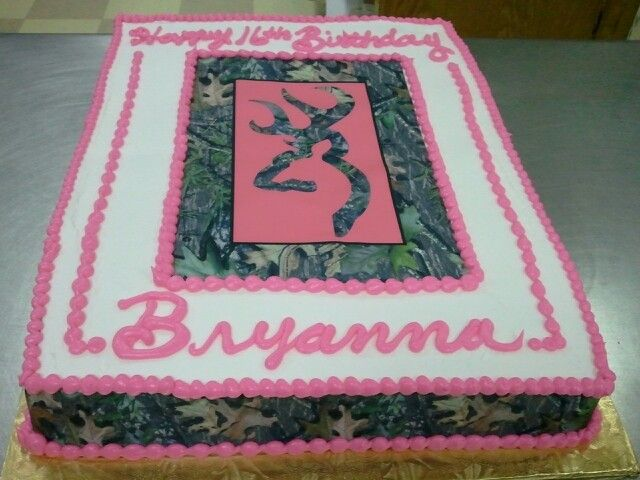 Camo Birthday Cake for Julie Camo and Hunting Cakes Pinterest