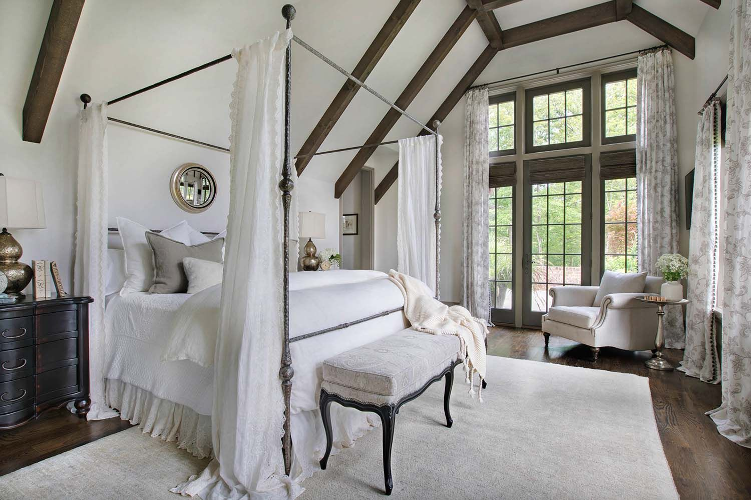 Gorgeous Home With English Manor Inspired Details On Lake Keowee Transitional Decor Transitional Living Rooms French Canopy Bed