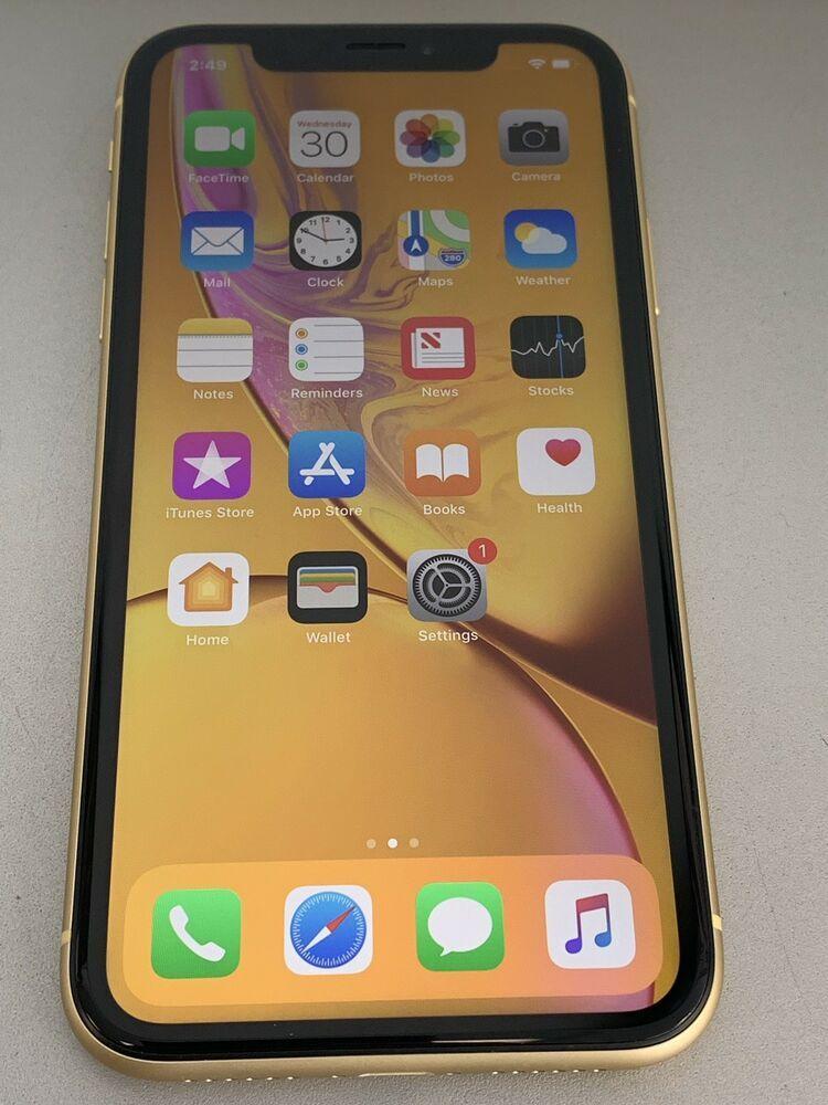 Used Near Mint Apple Iphone Xr 128gb Yellow Unlocked A1984 Cdma Gsm Iphone Apple Iphonex Apple Iphone Iphone Apple Phone Case