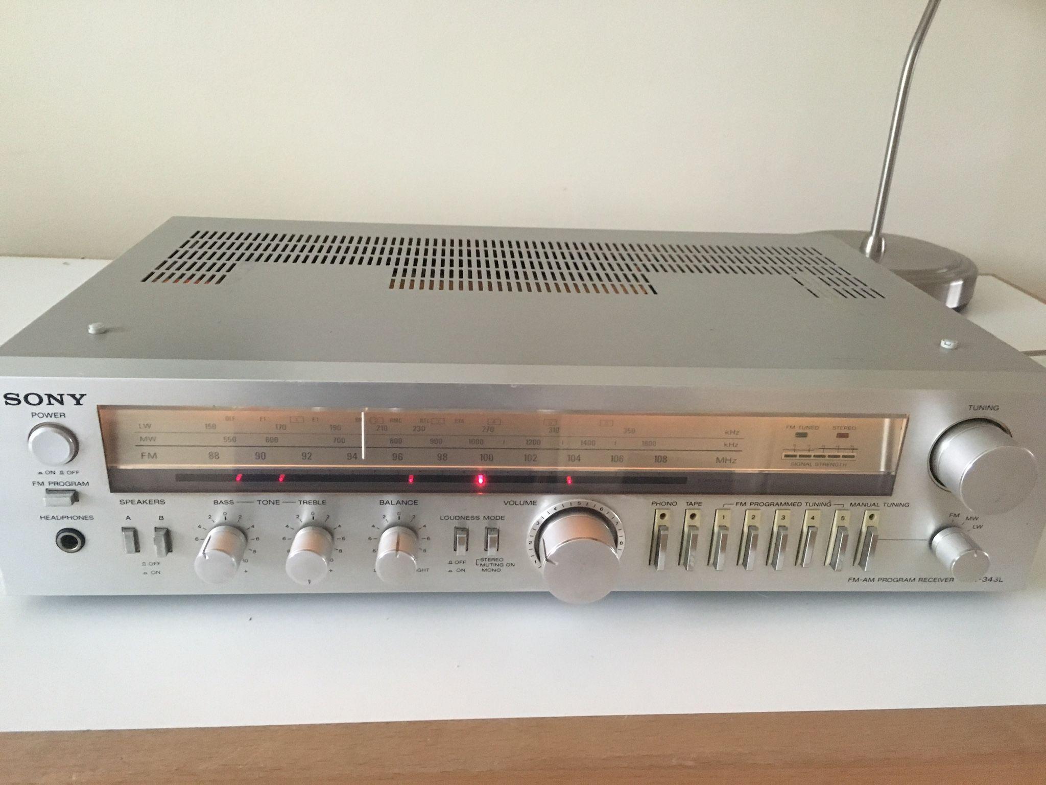 Uitgelezene Sony tuner/amp STR 343 L, appr 1983 | Vintage audio TB-43