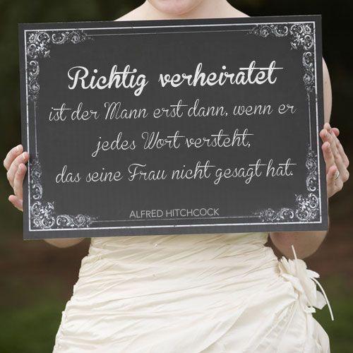 Richtig verheiratet | Hochzeitszitate, Hochzeitstag