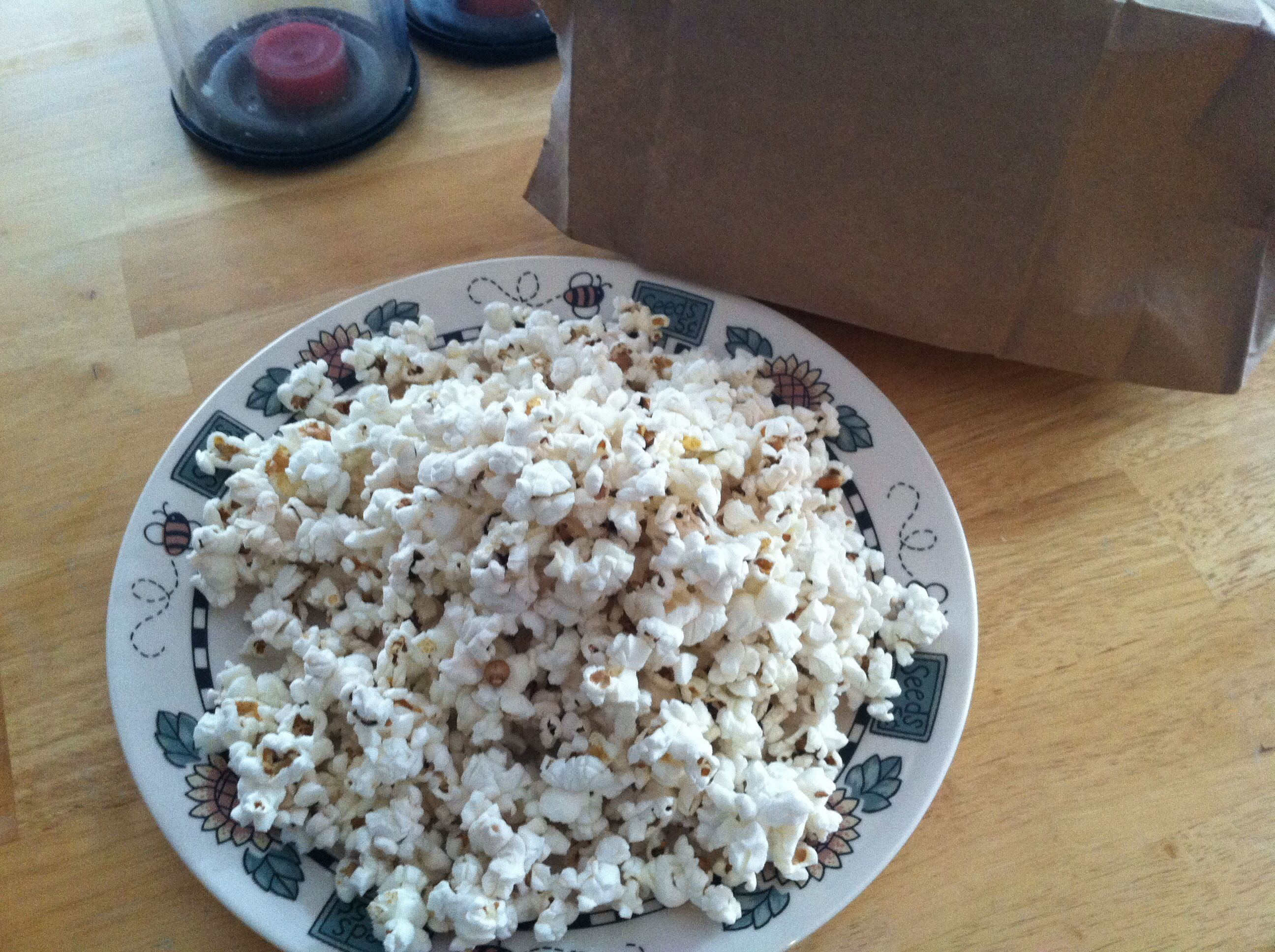 Microwave Air Popped Popcorn 1 4 Cup Kernels In Brown Paper Bag Fold