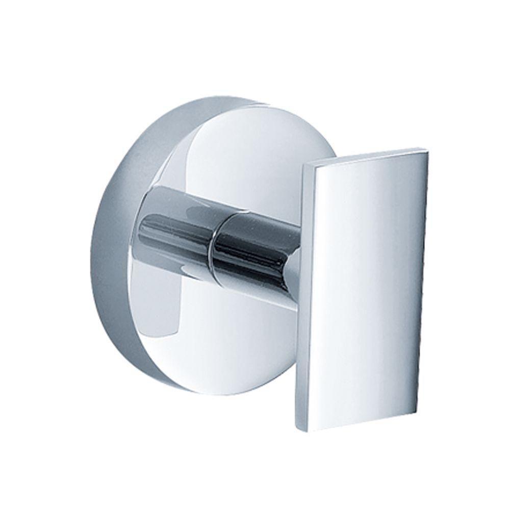 Kraus Imperium Bathroom Robe Hook In Chrome Grey Grey Home