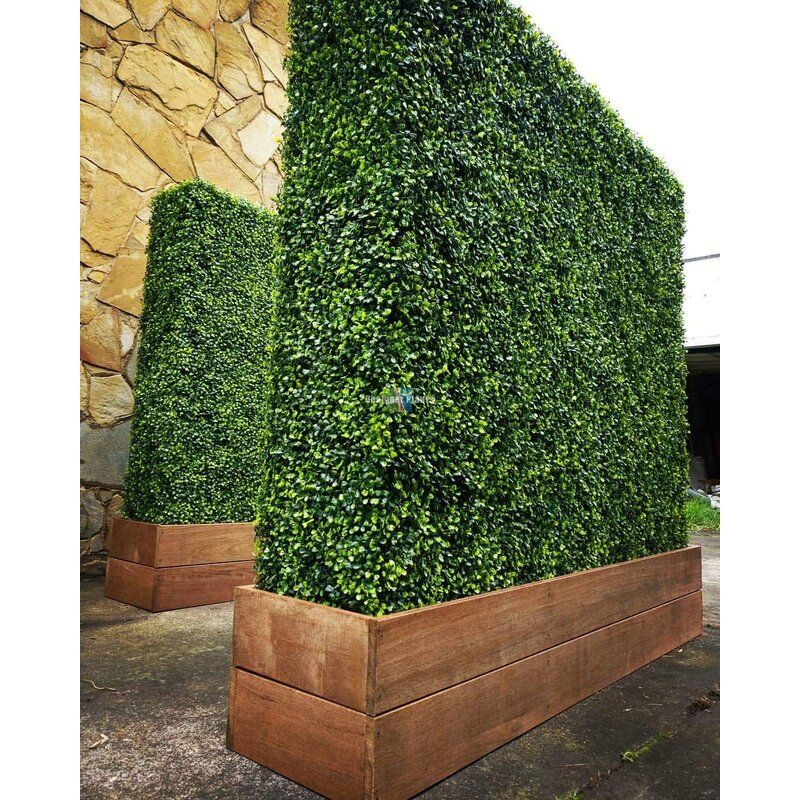 20 H X 20 W Artificial Planes Milan Hedge Polyethylene Fence Panel In 2021 Artificial Hedges Outdoor Privacy Garden Privacy Screen