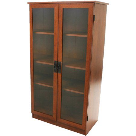 Heirloom Storage Cabinet With 4 Shelves Multiple Finishes Brown