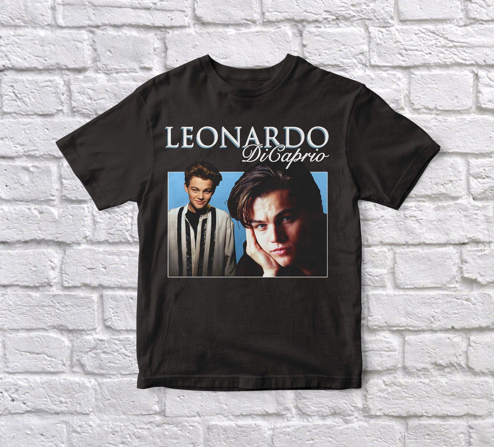 44d8d28d Leonardo DiCaprio Titanic Romeo & Juliet 90's Vintage White Tshirt | Etsy