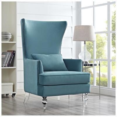 Tov Furniture, TOV-A139, Chairs, Tov Furniture Bristol Sea Blue Tall Chair Tov A139