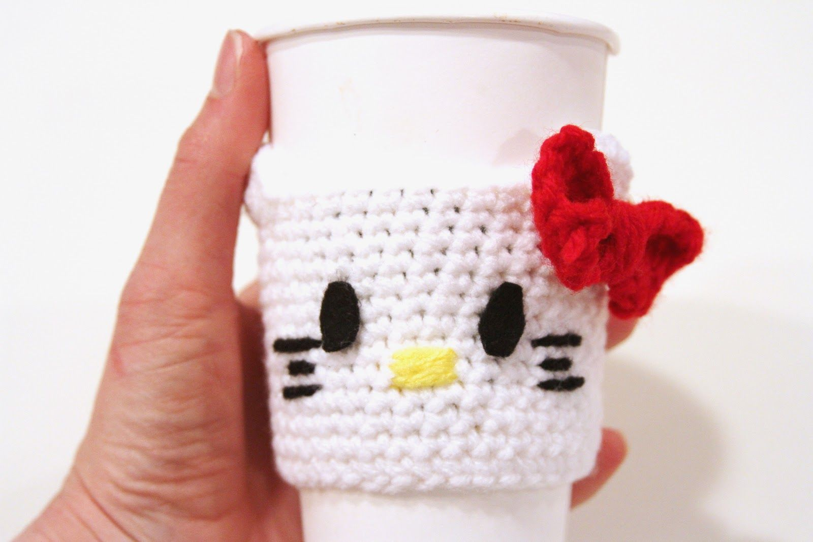 Fancy That Notion: Guest Post: Hello Kitty Coffee Cozy Pattern ...